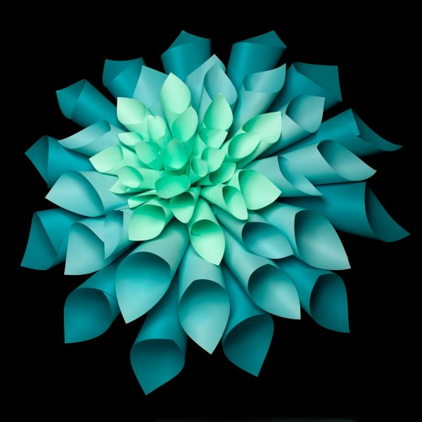 beautiful origami flower structure